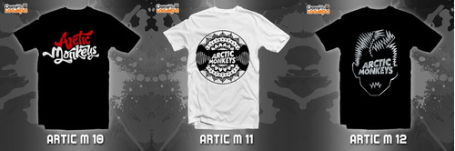 playeras rock arctic monkeys - 12 modelos disponibles!!!