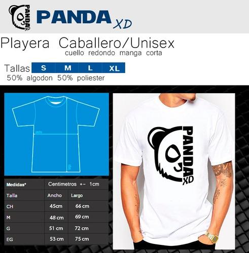 playeras rock y metal panda xd gorillaz diseños originales1