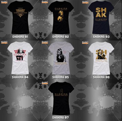 playeras shakira el dorado world tour -7 diseños disponibles