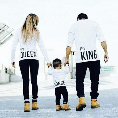 foto de Playeras Trío King Queen Prince O Princess Todas Las
