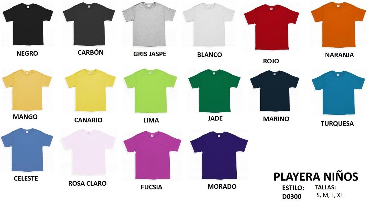 10b0bf0e63765 Playeras Yazbek Color Cuello Redondo Niño niña -   45.00 en Mercado ...