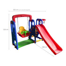 Playground Infantil 3 Em 1 Escorregador E Balanço Barzi