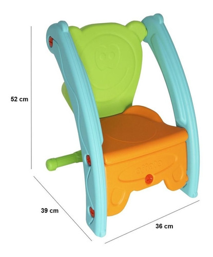 playground infantil gangorra e cadeira bw-052