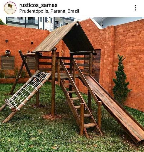 playground parquinho madeira/tratada serviço completo