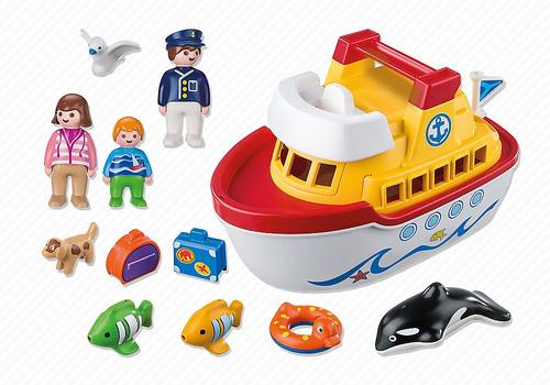playmobil 1 2 3 - 6957 barco maletin jugueteria bunny toys
