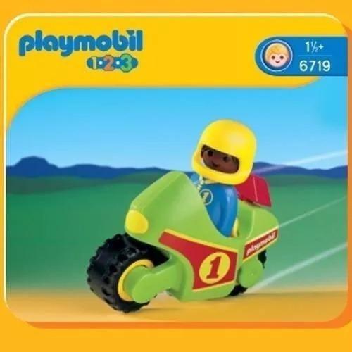 playmobil 123 6719 moto de carreras original