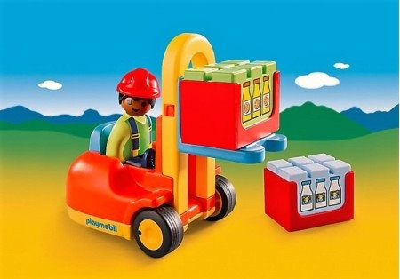 Playmobil 123 Carretilla Elevadora Art 6959 61488 En Mercado Libre