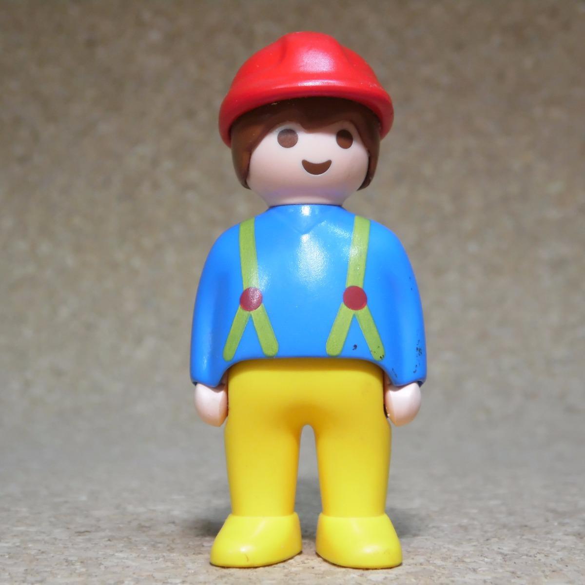 Playmobil 123 Trabajador De Construccion Casco Rojo D1 N - $ 109,00 ...