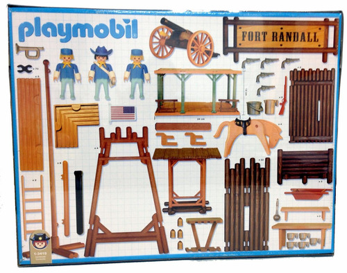 playmobil 3419 fuerte fort randall original antex
