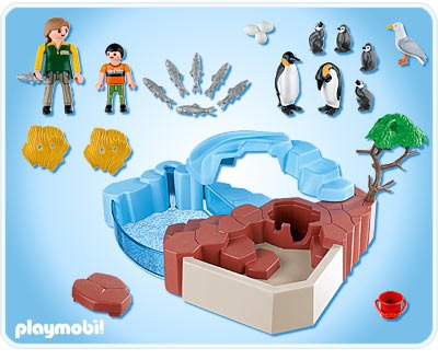 Playmobil 4013 Superset Piscina De Ping Inos Zoologico
