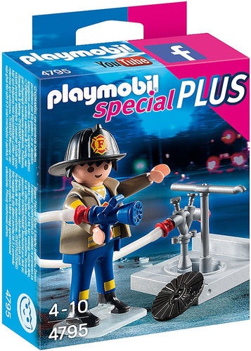 playmobil 4795 special plus bombero c/ mangera nuevo bigshop