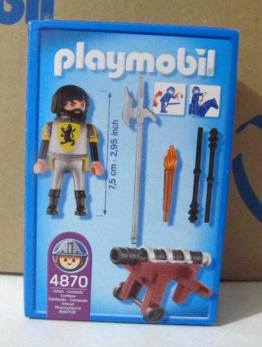 playmobil 4870 medieval caballeros del leon con cañon nuevo