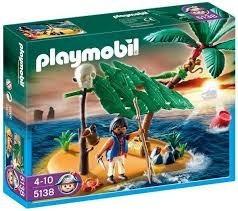 playmobil 5138 pirata isla naufrago, nuevo, cerrado sellado