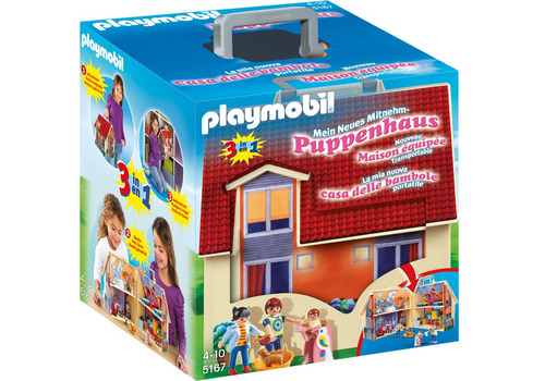 playmobil 5167 casa de muñecas maletin - jugueteria aplausos