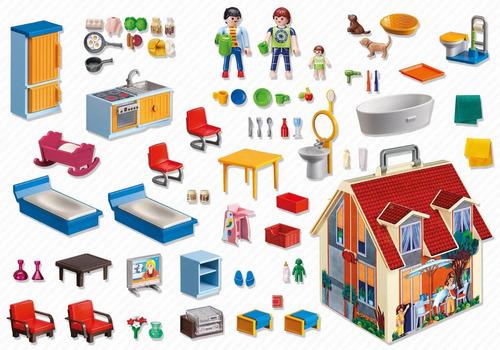 playmobil 5167 casa de muñecas maletin jugueterialeon