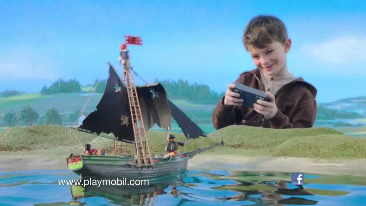 Playmobil 5238 barco pirata con motor marino y rc retromex for Barco pirata playmobil