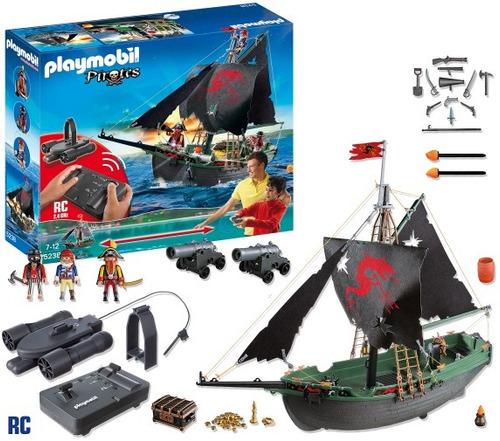 playmobil 5238 barco pirata radio control mundo  manias