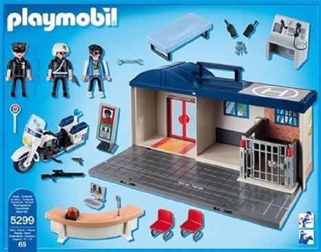 playmobil 5299 maletin estacion de policia - mundo manias