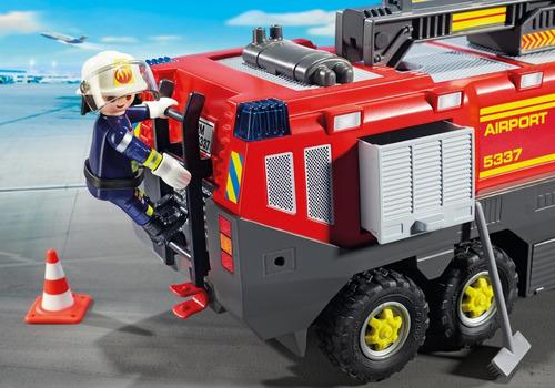 playmobil 5337 caminhão de bombeiros aeroporto city action