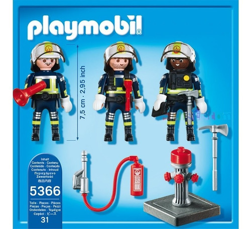 playmobil 5366 city action equipo de bomberos nenes bigshop