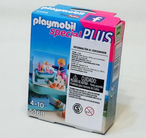 playmobil 5368 special plus mamá y niño con cambiador