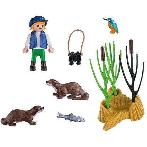 playmobil 5376 niño explorador con varios accesorios