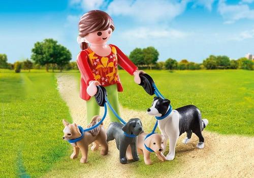 playmobil 5380 mujer con perros original