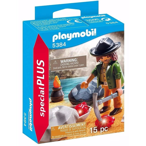 playmobil 5384 buscador de gemas con accesorios