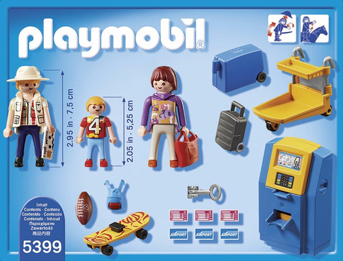 playmobil 5399 check in automatico con familia original