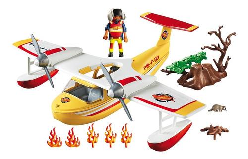 playmobil 5560 hidroavião de combate a incêndios wild life