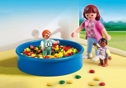 playmobil 5572 guarderia piscina pelotero niños orig intek