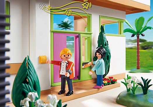 Playmobil 5574 casa mansi n moderna ciudad for Casa moderna playmobil 5574