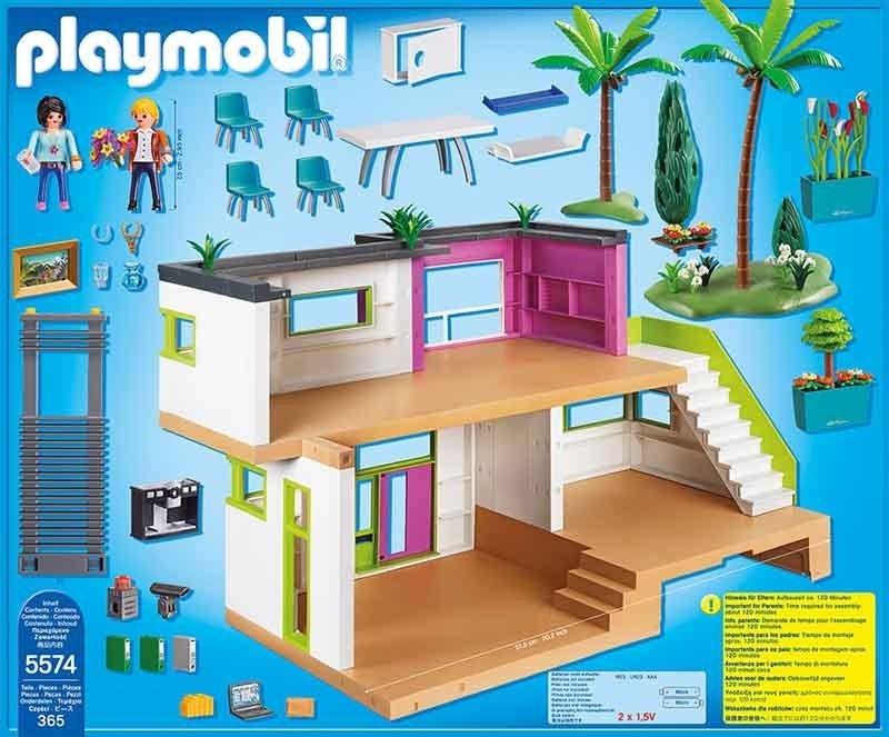 Playmobil 5574 Mansión Moderna Casa Muñecas Caja Maltratada - $ 2,865.00 en Mercado Libre