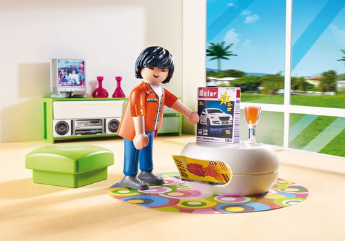 playmobil 5584 sala de estar city life geobra
