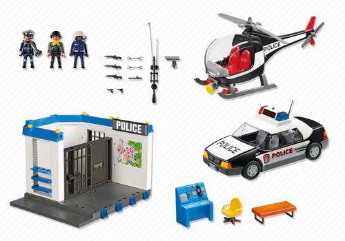 playmobil 5607 super set policial city action geobra