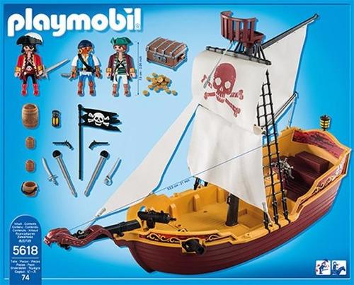 playmobil 5618 barco pirata jugueteria bunny toys