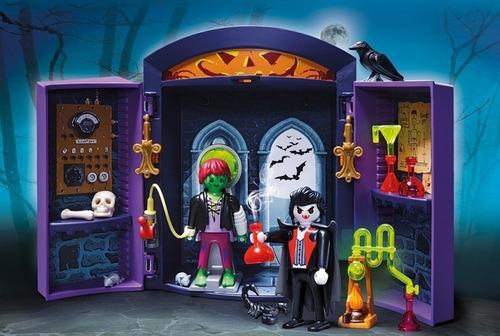 playmobil 5638 cofre casa encantada de vampiros orig intek