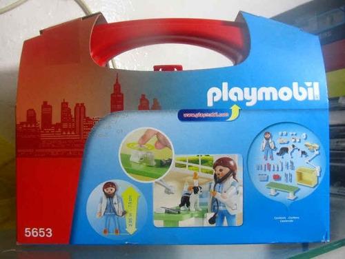 playmobil 5653 veterinaria maletin fotos reales nuevo
