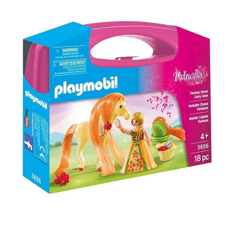 playmobil 5656 carrying case large combable horse