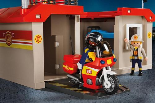playmobil 5663 estación de bomberos portátil