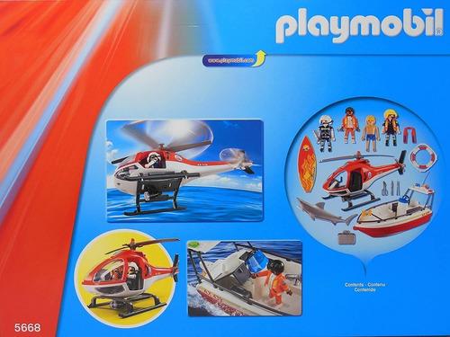 playmobil 5668 guarda costeira de resgate city action geobra