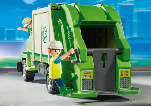 playmobil 5679 camion de basura de reciclaje original intek