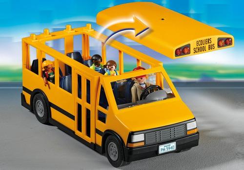 playmobil 5680 autobus bus micro escolar con luces