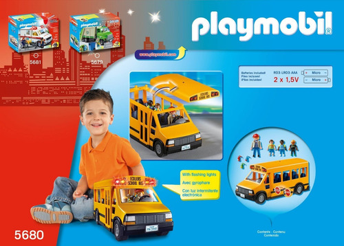 playmobil 5680 autobus escolar con luces original intek