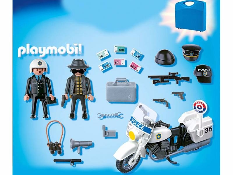 Playmobil 5891 maletin policia ciudad rescate retromex - Playmobile policier ...
