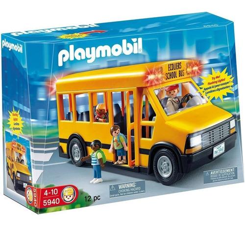 playmobil 5940 ônibus escolar
