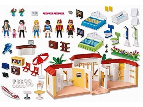 playmobil 5998 tropical beach hotel summer fun geobra