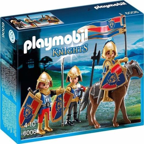 playmobil 6006 caballeros knights soldados real orig intek