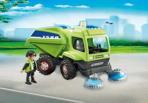 playmobil 6112 caminhão limpador de ruas city action geobra