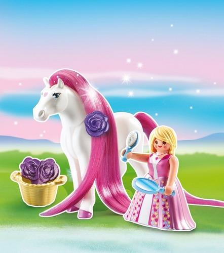 playmobil 6166 princesa rosalie con caballo original intek
